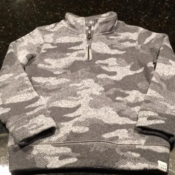 570b76431 GAP Shirts & Tops | 5 For 25 Toddler Half Zip Camo Sweatshirt 4t ...